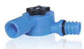 Flow Through Water Fed Angle Adapter For Telescoping Poles